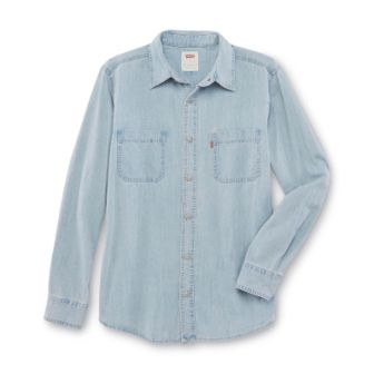 NEW LEVIS SHIRT L/S 3LMLW0983 LIGHT STONEWASH